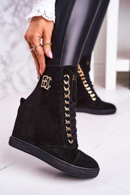 Dámske tenisky farba čierna kód obuvi 2222/066/z BLK GOLD
