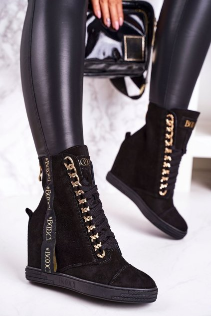 Dámske tenisky farba čierna kód obuvi 2222/543/z BLK GOLD