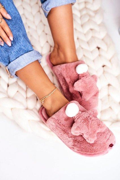 Dámske šľapky farba ružová kód obuvi D0151 POWDER PINK