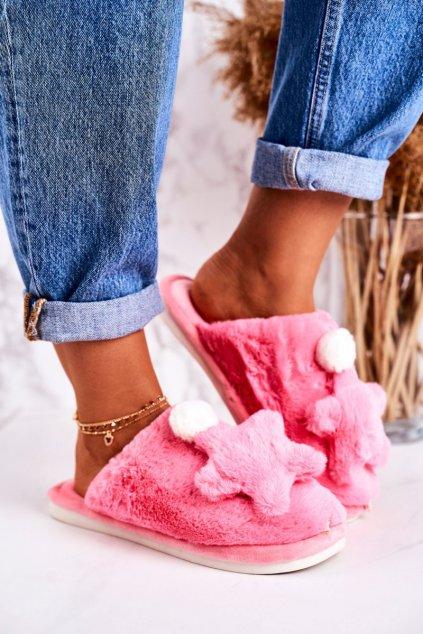 Dámske šľapky farba ružová kód obuvi D0151 BRIGHT PINK