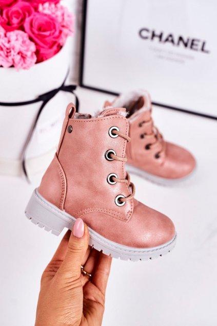 Detské členkové topánky farba ružová kód obuvi TL32K-2 PINK