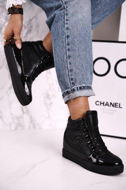 Dámske tenisky farba čierna kód obuvi R20-2 BLACK