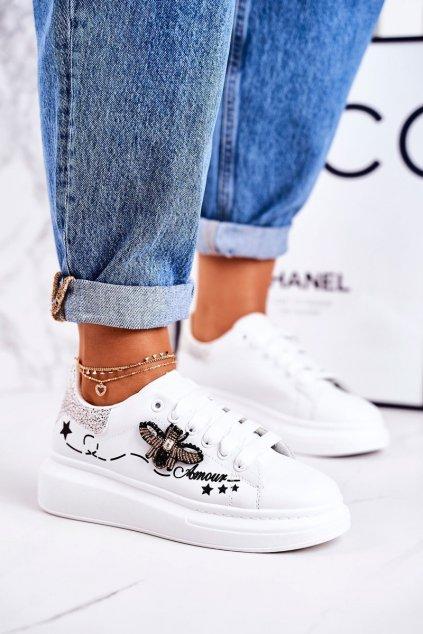 Dámske tenisky farba biela kód obuvi VIVI039 SILVER WHITE