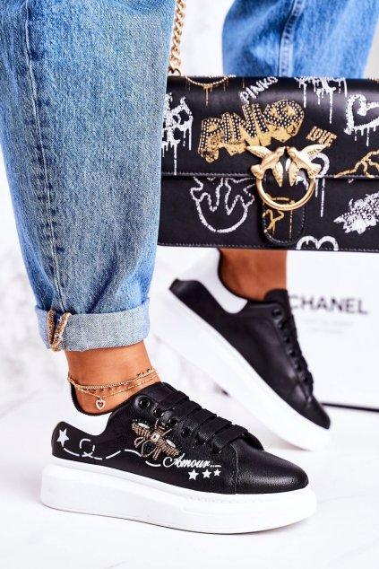 Dámske tenisky farba čierna kód obuvi VIVI039 BLACK