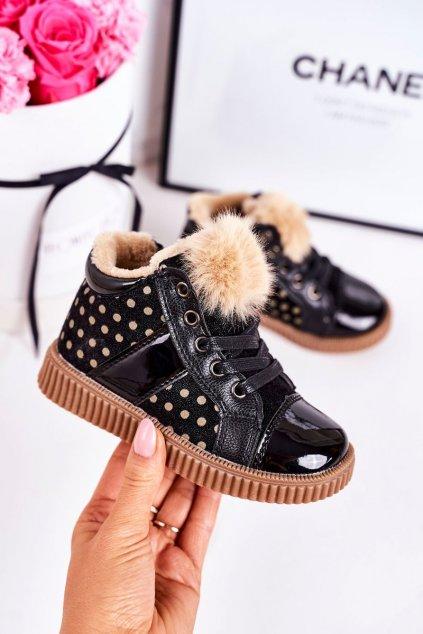 Detské tenisky farba čierna kód obuvi A2934 BLACK