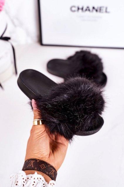 Detské šľapky farba čierna kód obuvi CK162P BLACK