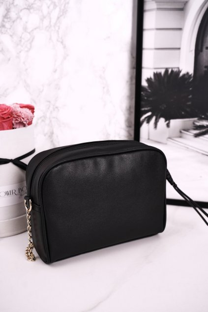 Dámska listová kabelka čierna kód kabelky BAG0202-020