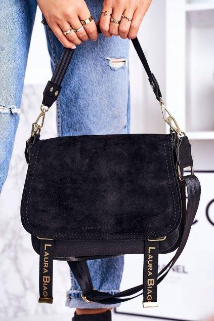 Dámska listová kabelka čierna kód kabelky F235 BLACK