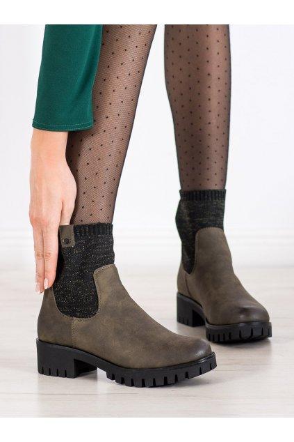 Zelené dámske topánky Daszyński kod MR1813GR