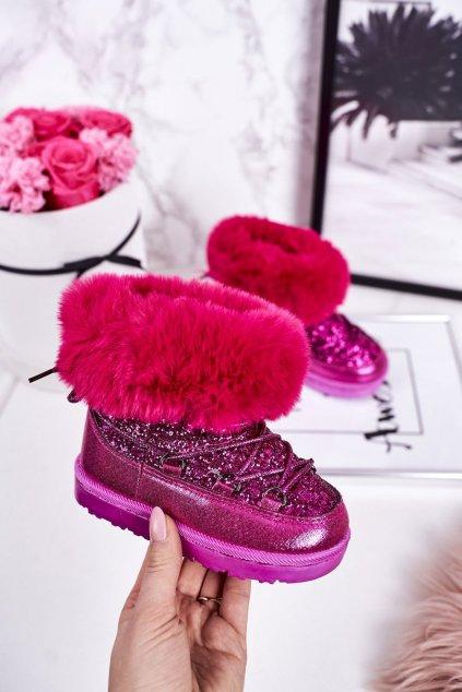 Detské snehule farba ružová kód obuvi 20222-1C/2C/3C PEACH