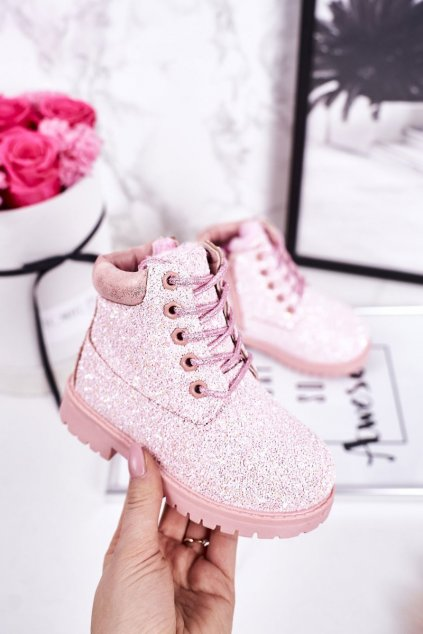 Detské členkové topánky farba ružová kód obuvi 20307-2CC PINK