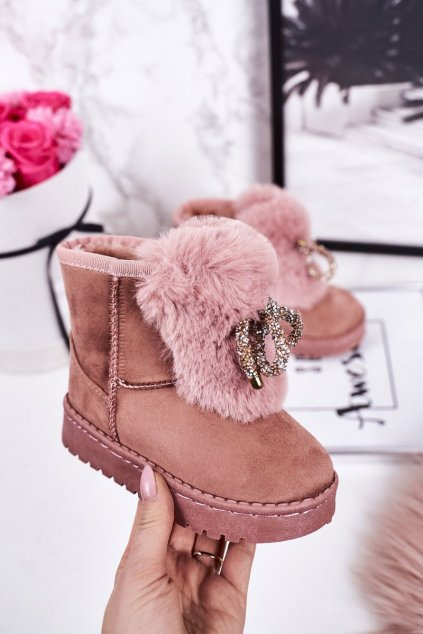 Detské snehule farba ružová kód obuvi 602-2C PINK
