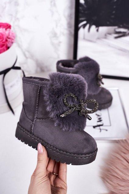 Detské snehule farba sivá kód obuvi 602-2B GREY
