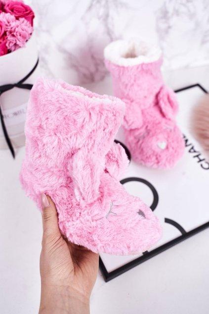 Detské šľapky farba ružová kód obuvi GM1267 PINK