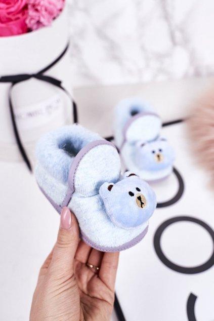 Detské šľapky farba modrá kód obuvi BM5389 BLUE