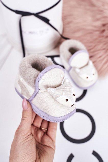 Detské šľapky farba sivá kód obuvi BM5385 GREY