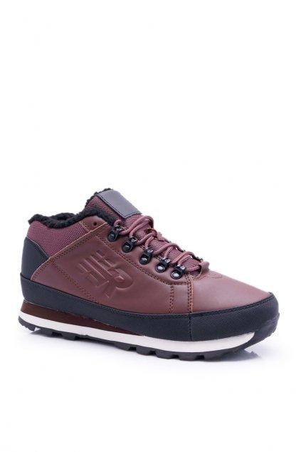 Pánske trekingové topánky farba hnedá NJSK 9WH917 BROWN