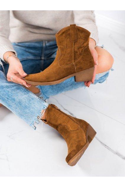 Hnedé dámske topánky Ideal shoes kod G-7683C
