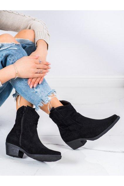 Čierne dámske topánky Ideal shoes kod G-7683B