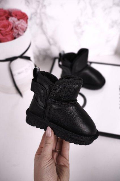 Detské snehule farba čierna kód obuvi ND53 BLK