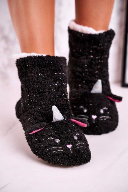 Dámske šľapky farba čierna kód obuvi NM1273 BLACK