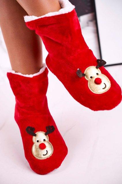Dámske šľapky farba červená kód obuvi NM1900 REINDEER