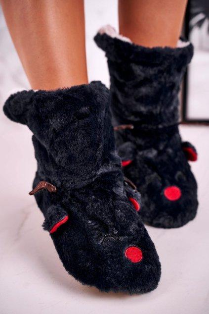 Dámske šľapky farba čierna kód obuvi NM1260 BLACK
