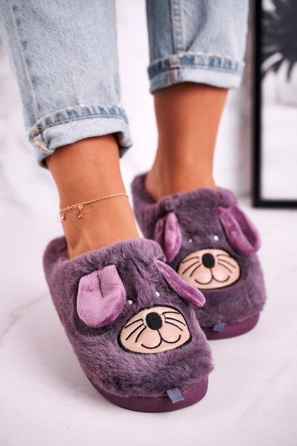 Dámske šľapky farba fialová kód obuvi MD1212 VIOLET