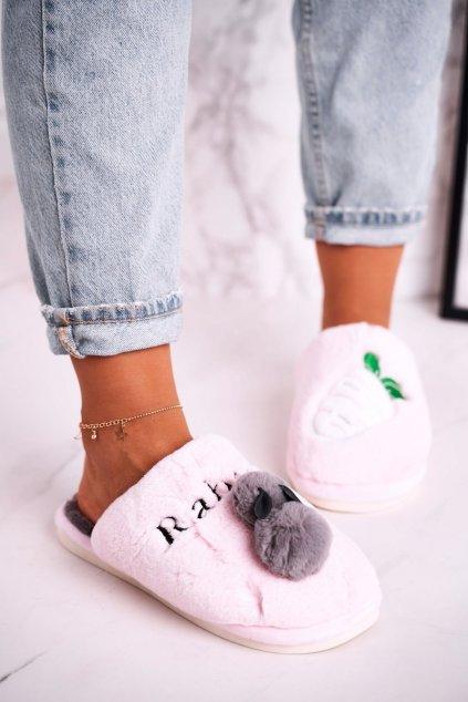 Dámske šľapky farba ružová kód obuvi MY88D52 PINK