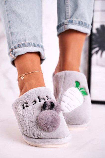 Dámske šľapky farba sivá kód obuvi MY88D52 GREY