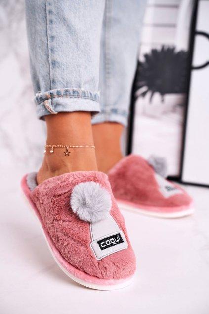 Dámske šľapky farba ružová kód obuvi 4072 POWDER PINK