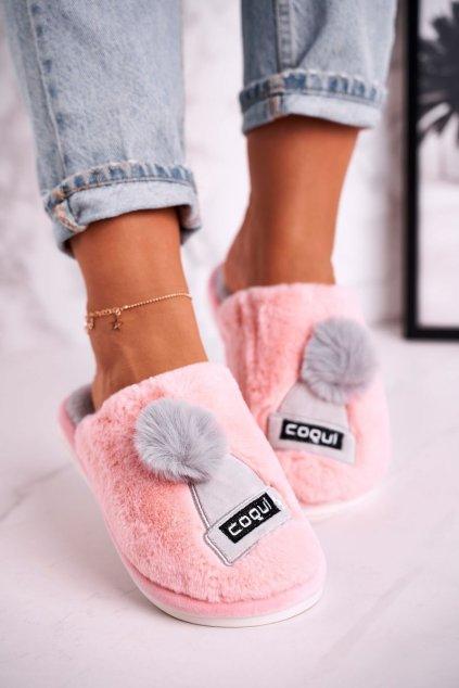 Dámske šľapky farba ružová kód obuvi 4072 PINK