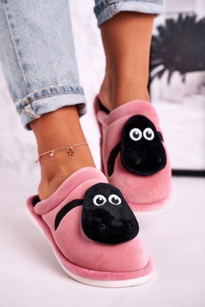 Dámske šľapky farba ružová kód obuvi 8562 POWDER PINK
