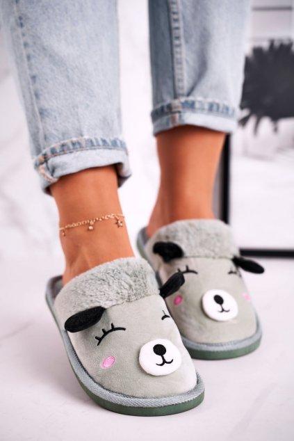 Dámske šľapky farba sivá kód obuvi SB-51 GREEN