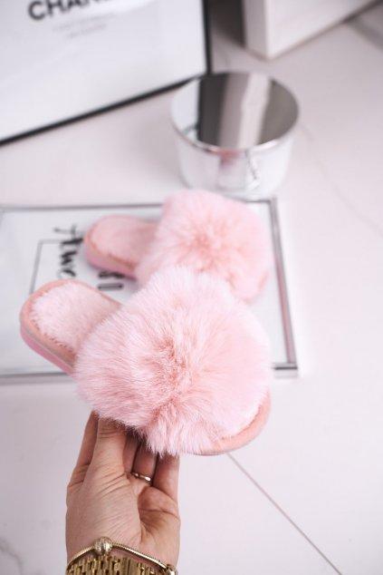 Detské šľapky farba ružová NJSK KL-A5 LIGHT PINK