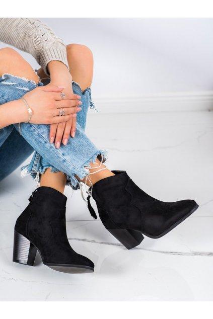 Čierne dámske topánky Super mode kod 6720B