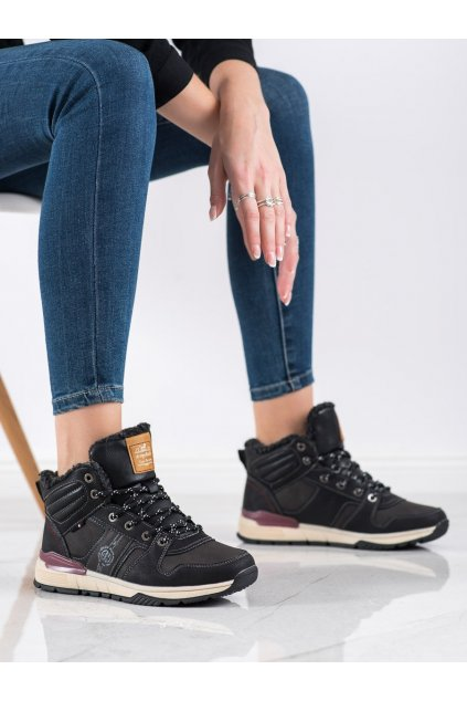 Čierne trekkingové dámske topánky Arrigo bello kod BM9098B