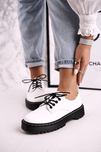 Dámske poltopánky farba biela kód obuvi HX62 WHITE