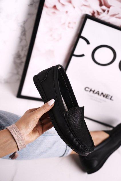 Dámske mokasíny farba čierna kód obuvi LR97630 BLACK