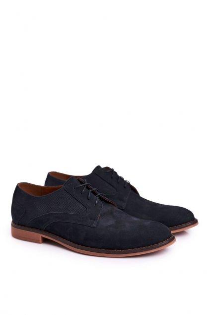 Pánske poltopánky farba modrá kód obuvi 808 NAVY