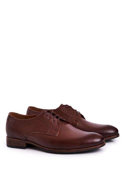 Pánske poltopánky farba hnedá kód obuvi 672 D.BROWN