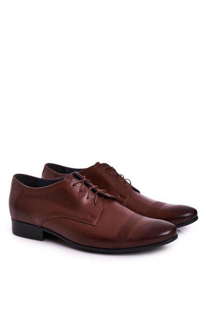 Pánske poltopánky farba hnedá kód obuvi 804 D.BROWN