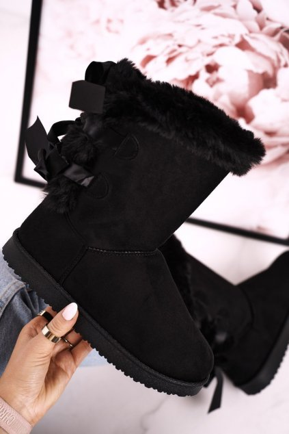 Dámske snehule farba čierna kód obuvi LV59P BLK
