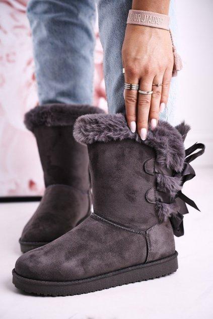 Dámske snehule farba sivá kód obuvi LV59P GREY