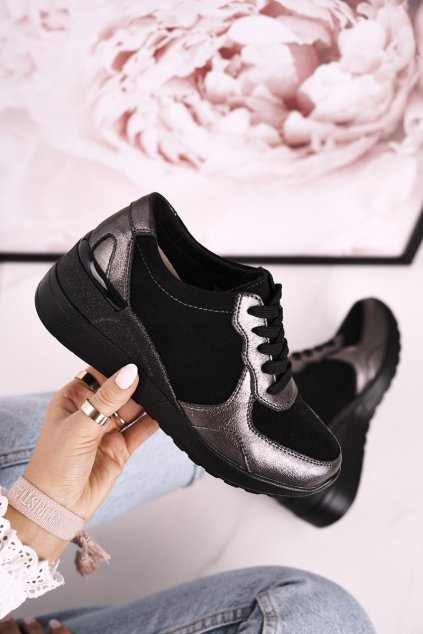 Dámske tenisky farba čierna kód obuvi LR94499 BLACK
