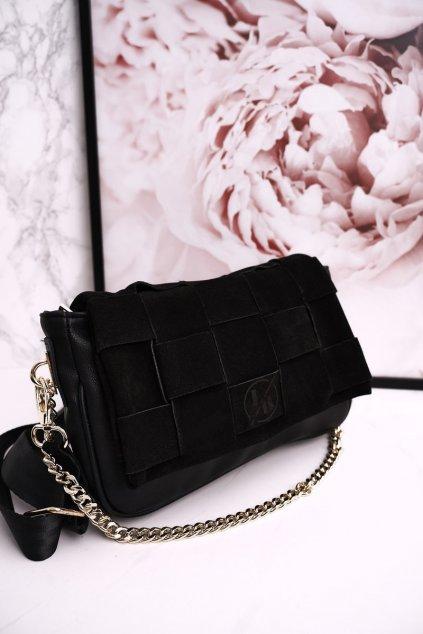 Dámska kabelka čierna kód kabelky LS02 SUEDE BLK
