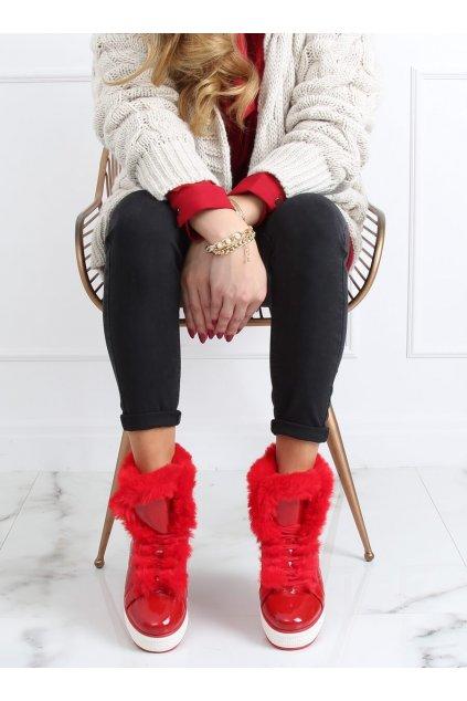 Dámske topánky na zimu červené NB310P-3