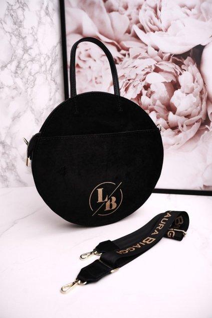 Dámska listová kabelka čierna kód kabelky 218 BLACK