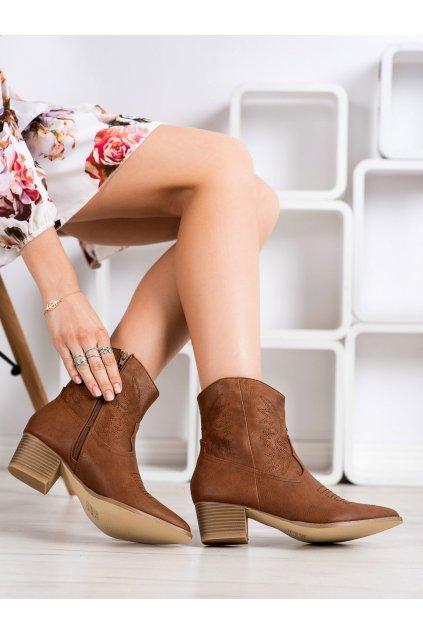 Hnedé dámske topánky Shelovet kod 97-10834C