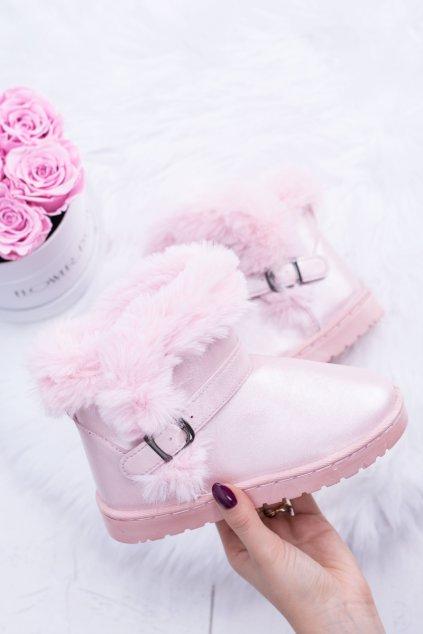 Detské snehule farba ružová NJSK 20221-1C PINK
